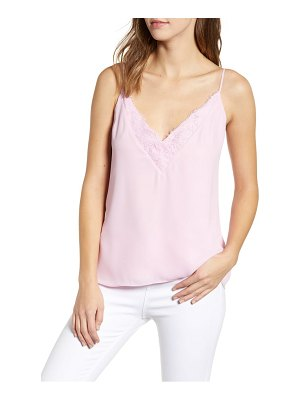Socialite lace trim camisole top