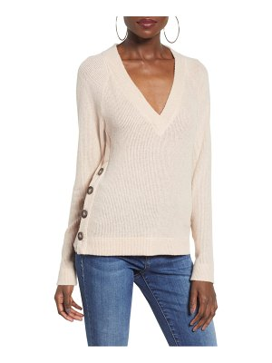 Socialite side button sweater