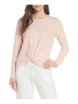Socialite twist front brushed hacci sweatshirt