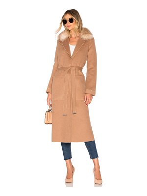 Soia & Kyo Ivonne Coat With Fur Collar
