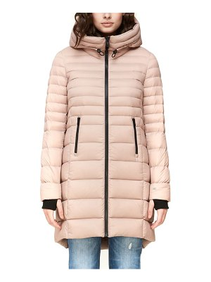 Soia & Kyo lightweight hooded down coat