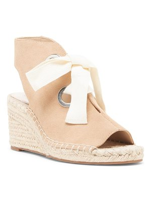Sole Society cambrine lace-up wedge espadrille sandal