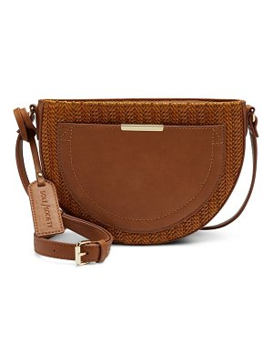 Sole Society genoa half circle faux leather crossbody bag
