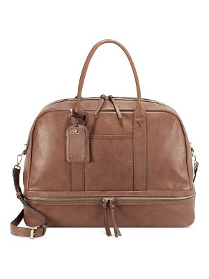 Sole Society mason faux leather travel satchel