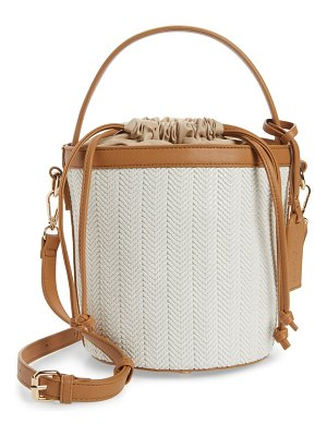 Sole Society nikole faux leather bucket bag