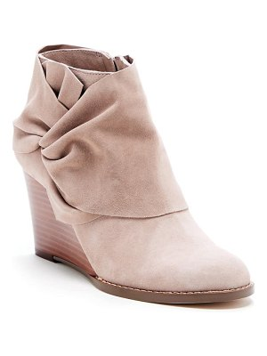 Sole Society pegie wedge bootie