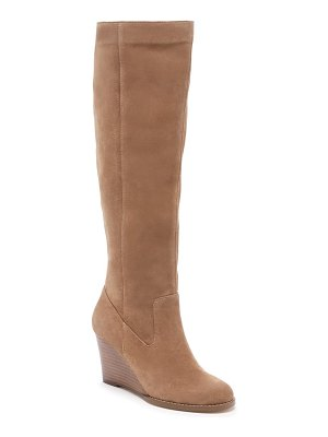 Sole Society prony knee high wedge boot