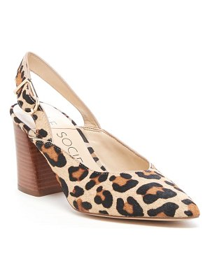 Sole Society tamel slingback genuine calf hair pump