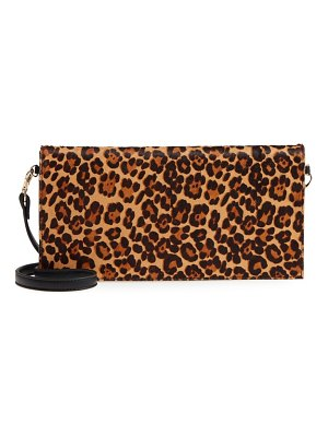 Sole Society tesso genuine calf hair clutch