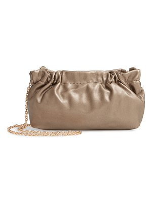 Sole Society tyll faux leather clutch