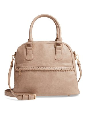 Sole Society vulin whipstitch faux leather satchel