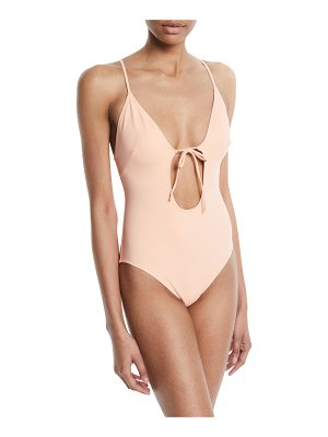 SOLID AND STRIPED The Kelsey Tie-Front One-Piece Swimsuit