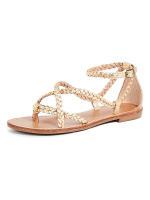 Soludos amalfi braided metallic sandals