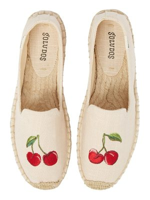 Soludos cherries embroidered espadrille