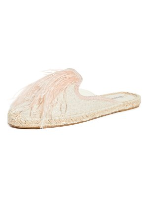Soludos feathers mules
