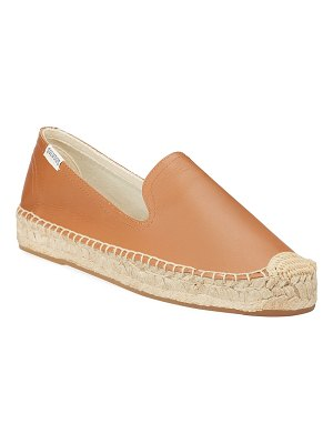 Soludos Leather Slip-On Espadrille Smoking Slipper Flats