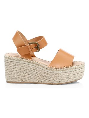 Soludos minorca leather espadrille platform wedge sandals