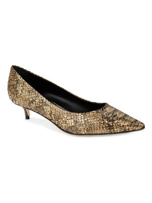 Something Bleu belles snake embossed pointed toe pump