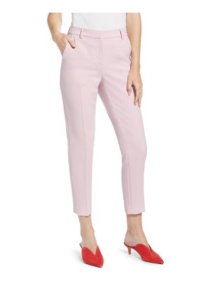 Something Navy flat front trousers