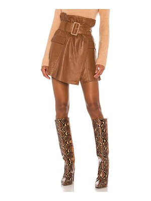Song of Style brandy leather skirt