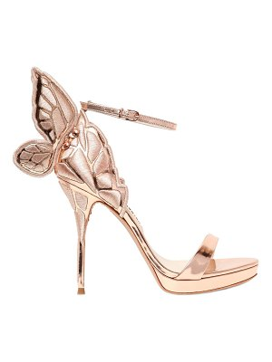 Sophia Webster 120mm chiara metallic leather sandals