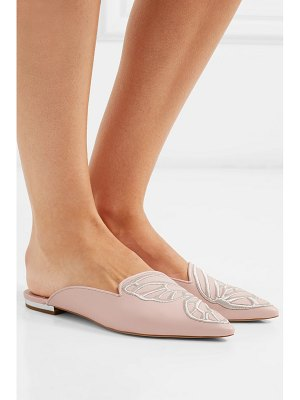 Sophia Webster bibi butterfly embroidered leather slippers