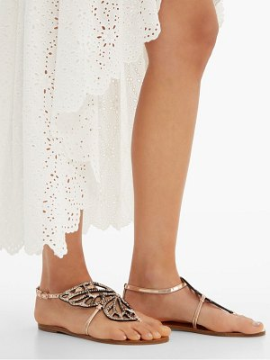 Sophia Webster butterfly python print leather sandals