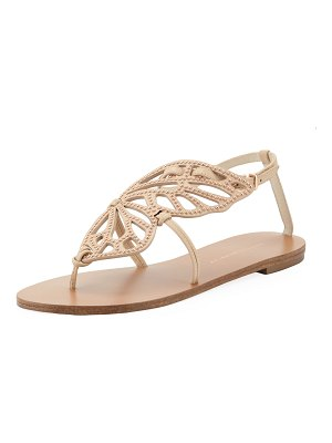 Sophia Webster Bibi Butterfly Stud Flat Sandals