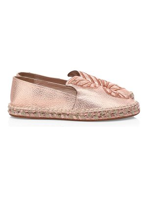 Sophia Webster butterfly metallic leather espadrilles