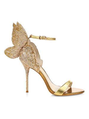 Sophia Webster chiara embellished glitter & metallic leather sandals