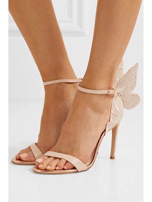 Sophia Webster chiara embroidered leather and suede sandals
