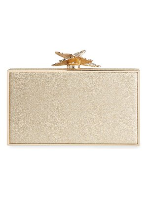 Sophia Webster Clara Butterfly Glitter Box Clutch Bag