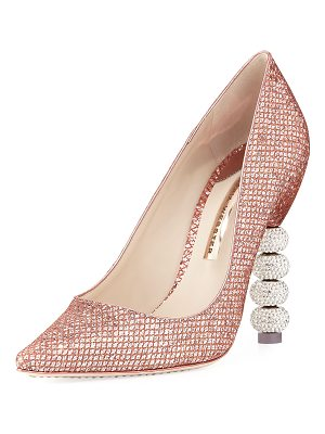 Sophia Webster Coco Crystal-Embellished Major Pumps