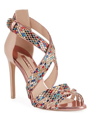 Sophia Webster Danae Crystal Strappy Sandals