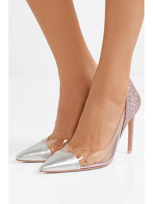 Sophia Webster daria pvc-paneled glittered metallic leather pumps