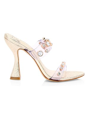 Sophia Webster dina embellished vinyl metallic mules