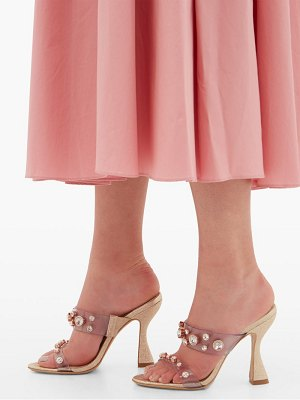 Sophia Webster dina glitter and gem-embellished mules