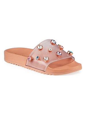Sophia Webster Dina See-Through Vinyl Pool Slide Sandals