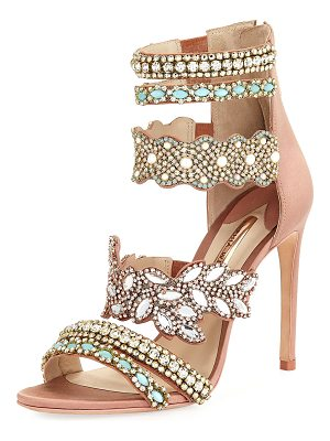 SOPHIA WEBSTER Eden Crystal-Embellished Satin Sandal