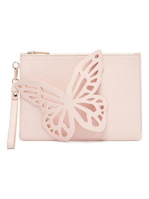 Sophia Webster flossy butterfly leather clutch