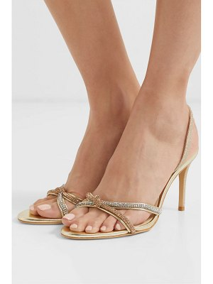 Sophia Webster giovanna crystal-embellished glittered leather slingback sandals