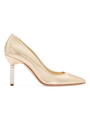Sophia Webster jasmine crystal-heel metallic mid-heel pumps