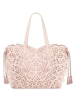 Sophia Webster Liara Mini Laser-Cut Leather Butterfly Tote Bag