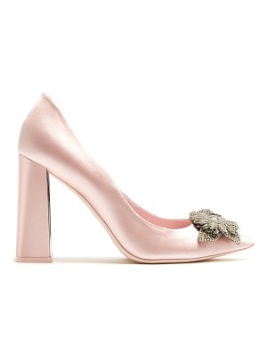 Sophia Webster Lilico crystal-embellished satin pumps
