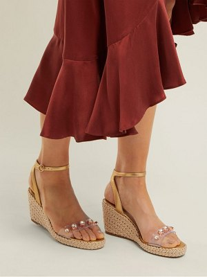 Sophia Webster dina embellished espadrille wedge sandals