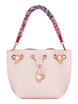 Sophia Webster Romy Mini Bucket Bag with Woven Handle