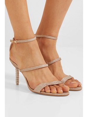 Sophia Webster rosalind crystal-embellished glittered leather sandals