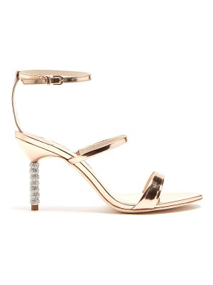 Sophia Webster Rosalind crystal embellished-heel leather sandals