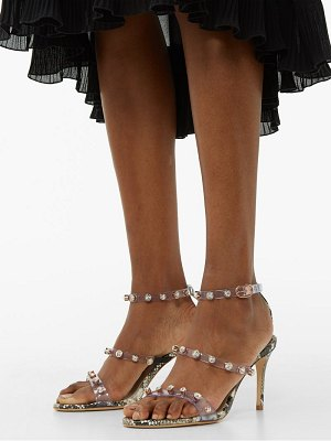 Sophia Webster rosalind crystal-embellished python-effect sandals
