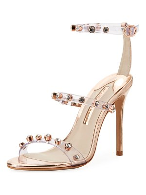 Sophia Webster Rosalind Gem Vinyl Ankle-Wrap Sandals